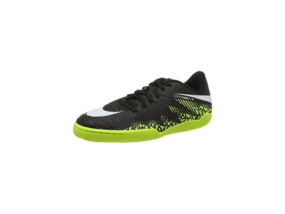 Nike Niño Hypervenomx Phelon II IC Fútbol Sala 749920 017 Negras