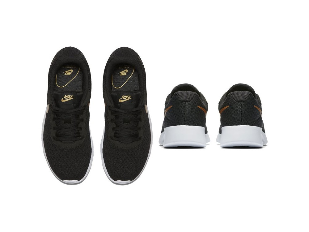 zapatillas nike mujer negras y doradas