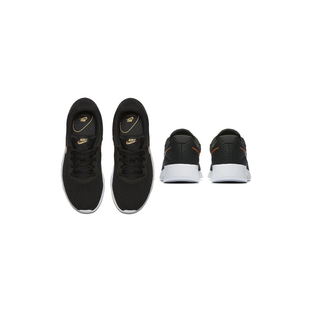Nike tanjun zapatillas mujer 812655 004 negro y dorado AC7yEW