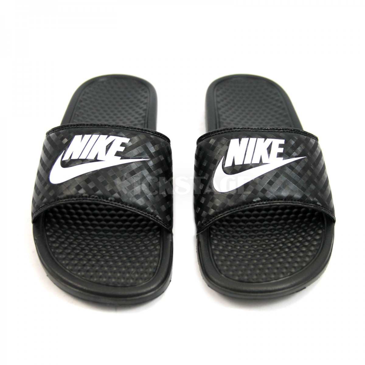 40a79e43daf ... Nike WMNS Benassi JDI Chanclas Mujer 343881 011 Negras ...