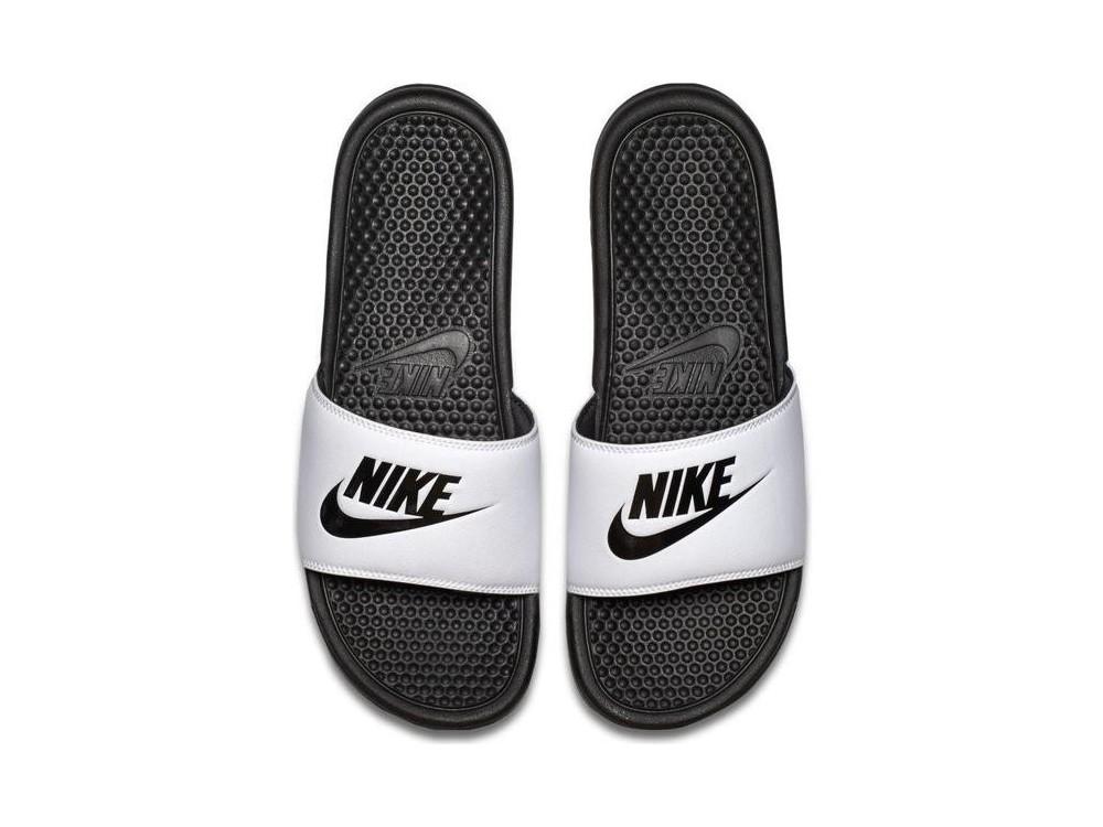 Nike Benassi JDI Chanclas Hombre 343880 100 Blancas