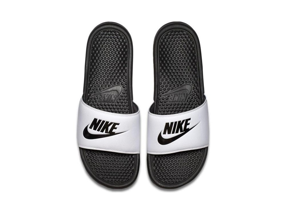 mejor selección de zapatillas de skate super calidad Nike Benassi JDI Chanclas Hombre 343880 100|Comprar Nike Benassi JDI  Blancas Mejor Precio