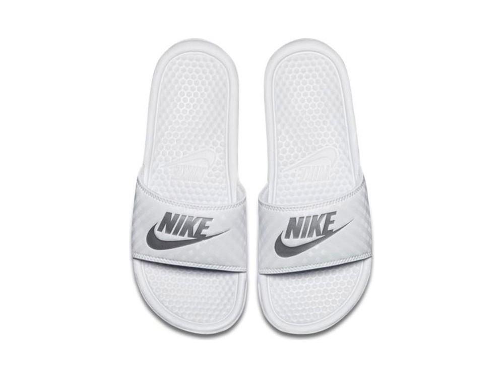 Nike WMNS Benassi JDI Chanclas Mujer 343881 102 Blancas