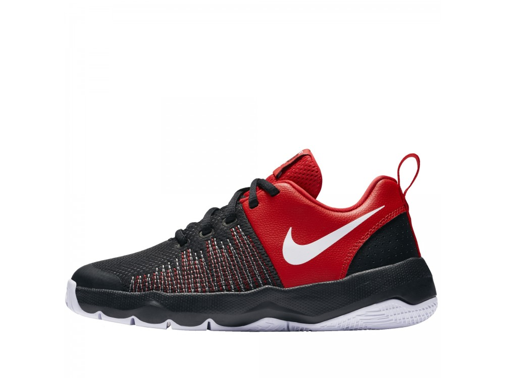 Nike Team Hustle Quick Zapatilla Niño/Mujer 922680 002 Negro y Rojo