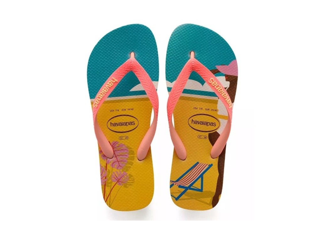 Havaianas Top Fashion Chanclas Mujer 4137258 1976 Estampado Playa