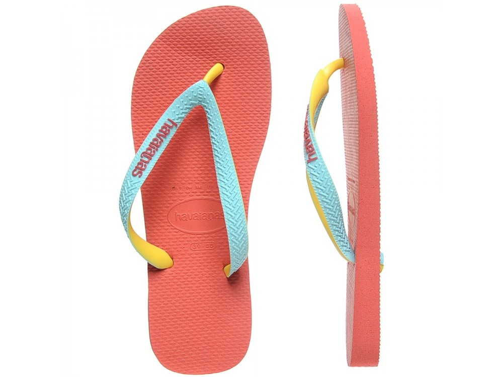 Havaianas Top Mix Chanclas Mujer 4115549 6024  Rosa/Coral