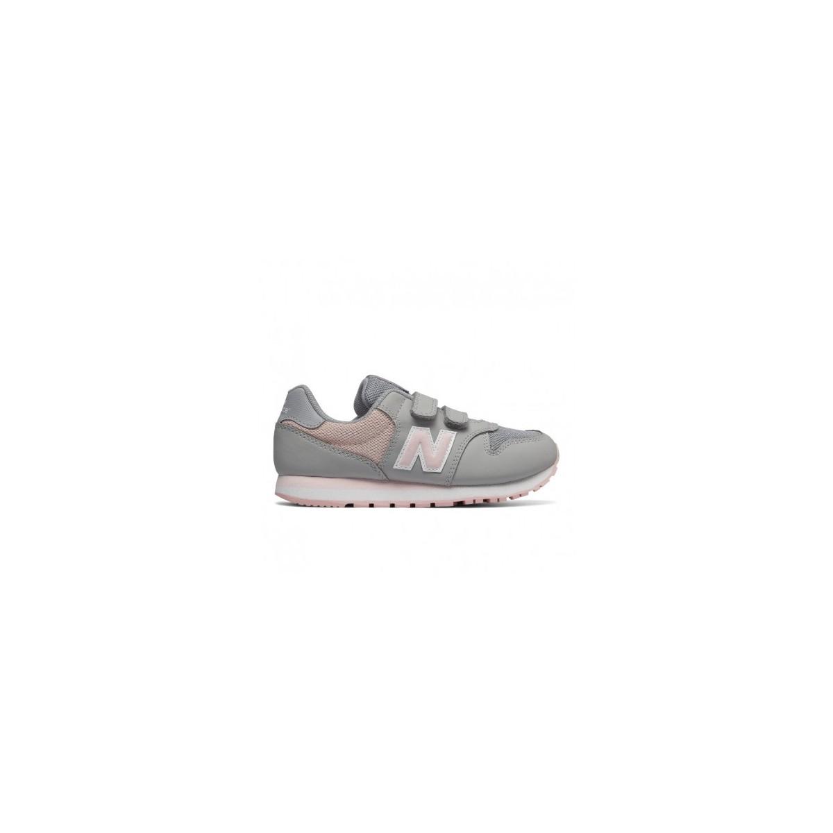 new balance gris rosa niña