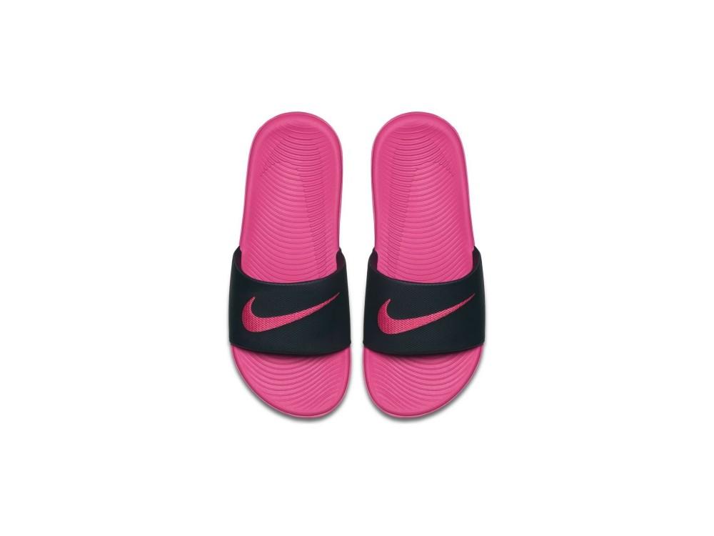 NIKE KAWA SLIDE Chanclas Mujer/Chanclas Niña  Nike Negras y Rosas