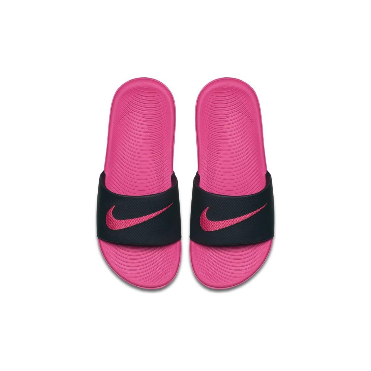 acc155b58 CHANCLAS NIKE: Nike Kawa Slide GS Negras| Chanclas Nike Mujer Negras ...