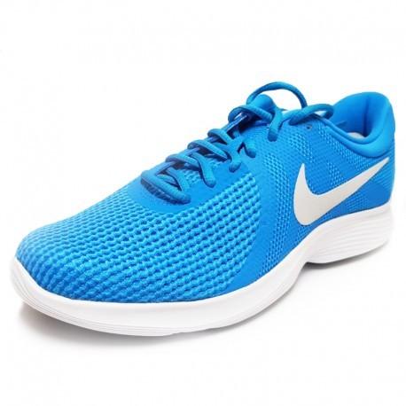 borde Decir Jugar con  NIKE: Zapatillas Revolution 4 EU: Nike Hombre Azul AJ3490 441 Baratas