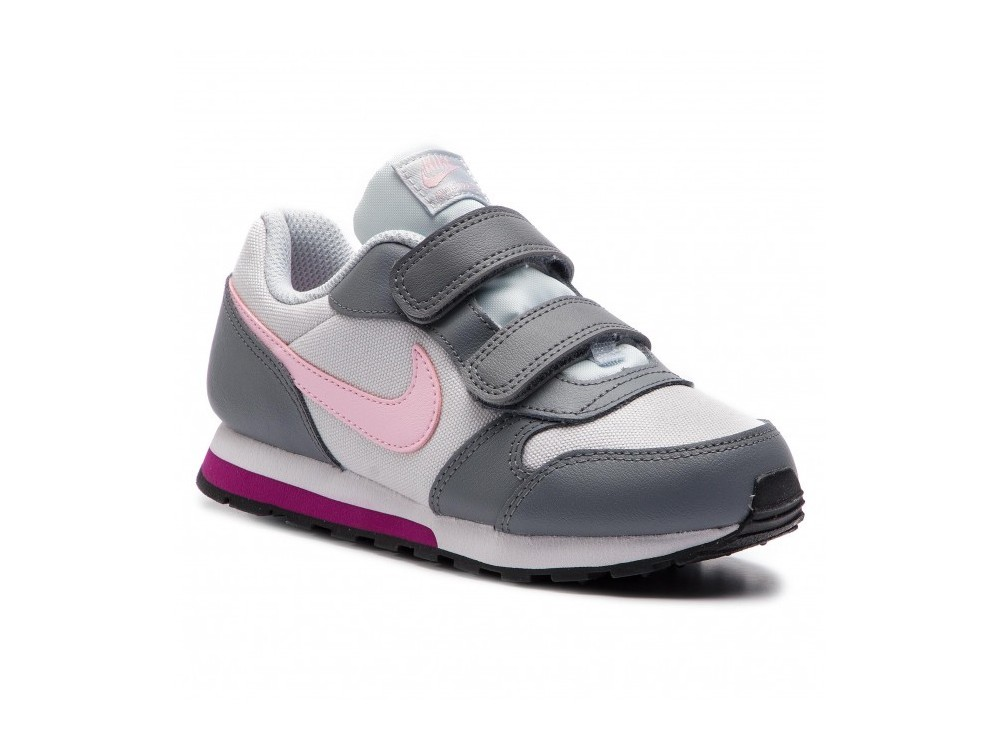 NIKE KIDS 807320 MD RUNNER Zapatillas Niña Gris