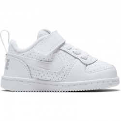 NIKE COURT BOROUGH LOW (TDV) ZAPATILLA INFANTIL 870029 100 BLANCAS