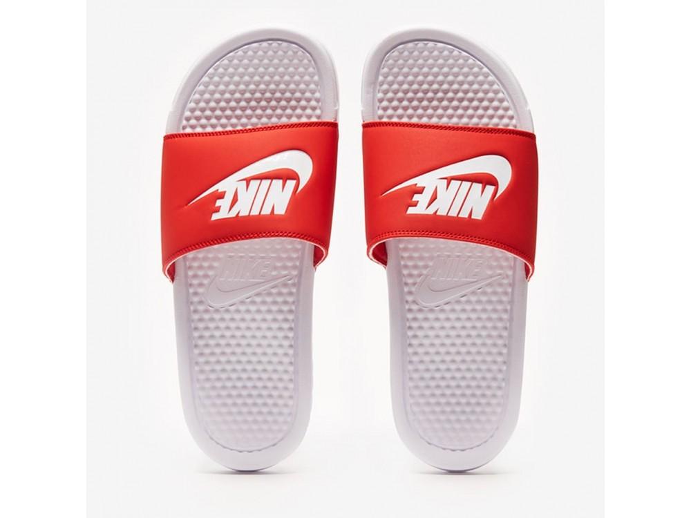 Chancla Nike Benassi JDI 343880 106 Blanca y Roja Hombre