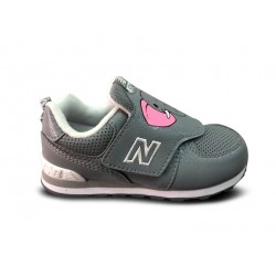 NEW BALANCE ZAPATILLA NIÑA IV574ZOE DAY AT THE ZOO WIDE GRISES