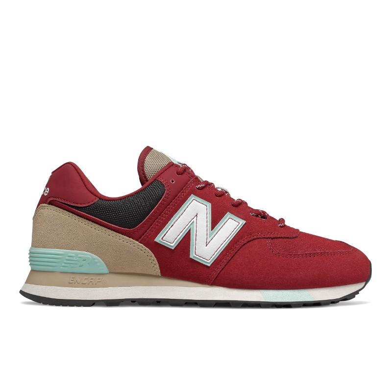 new balance 574 hombres zapatillas rojas