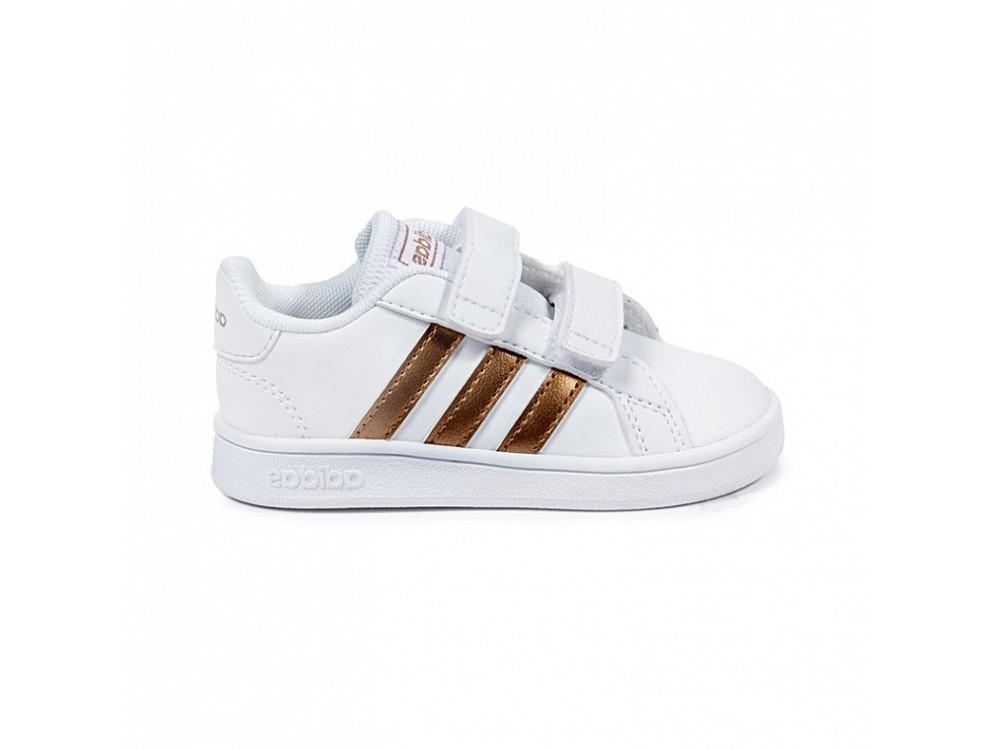 zapatillas blancas niña adidas