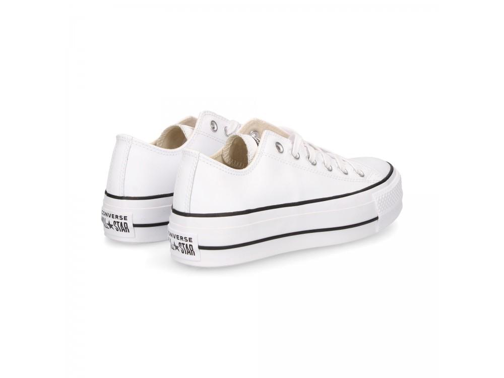 zapatillas blancas piel mujer converse
