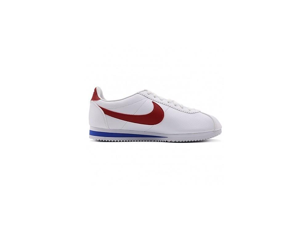 NIKE CORTEZ CLASICAS Mujer Blancas y Rojas // Nike Cortez Clasicas 807471