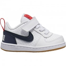 NIKE COURT BOROUGH LOW (TDV) ZAPATILLA NIÑO 870029 105 BLANCAS