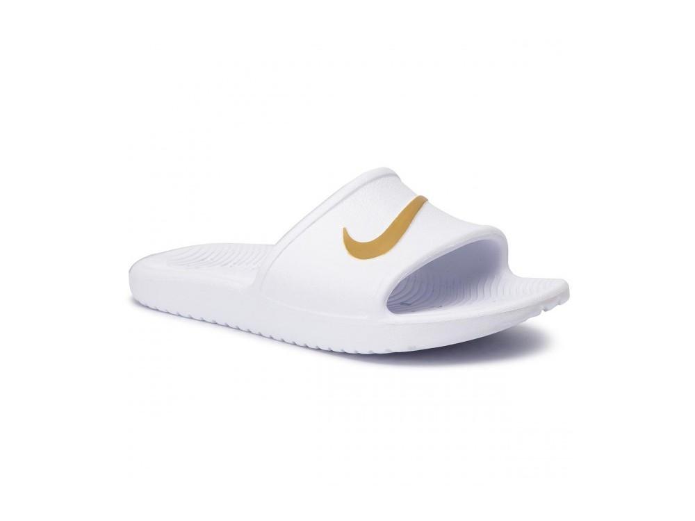 calina Adelante Por lo tanto  NIKE : Chancla Hombre Nike Kawa Shower 832655 101 Blanca Mejor Precio