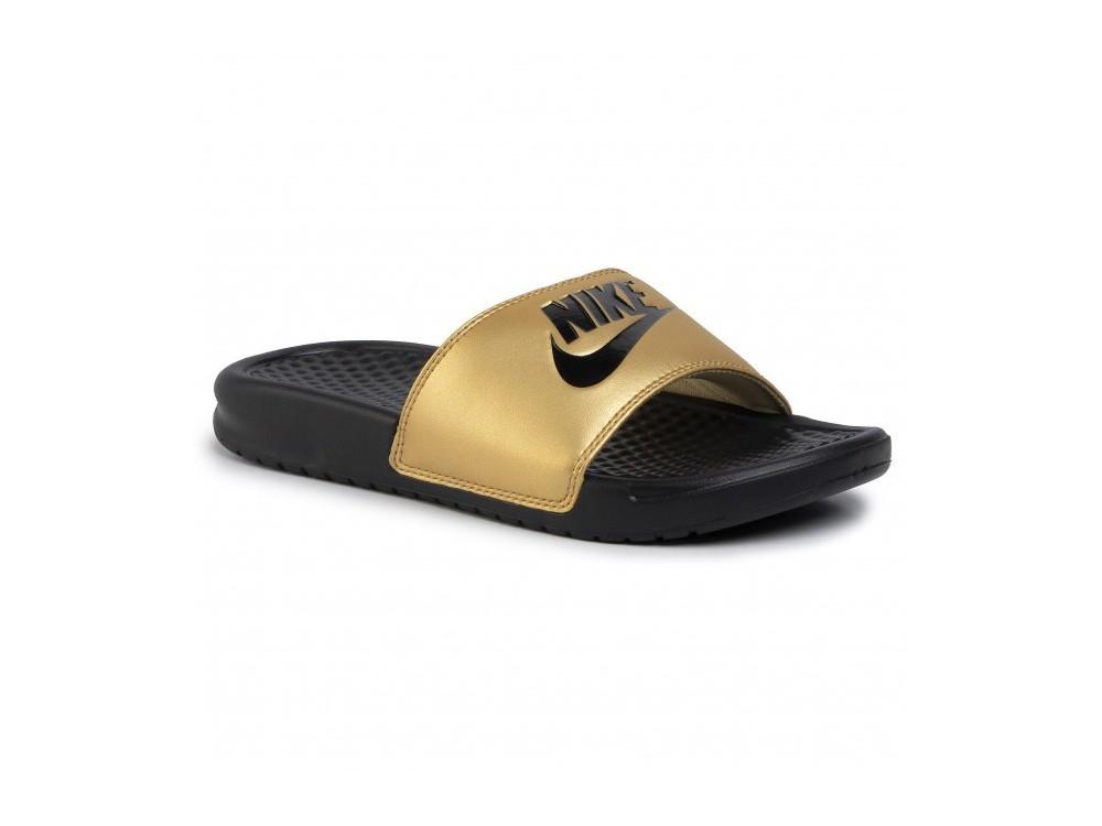 regional Pulido administración  Chanclas Nike Baratas - Nike Benassi JDI Negras 343881 01 Negra y Dorada