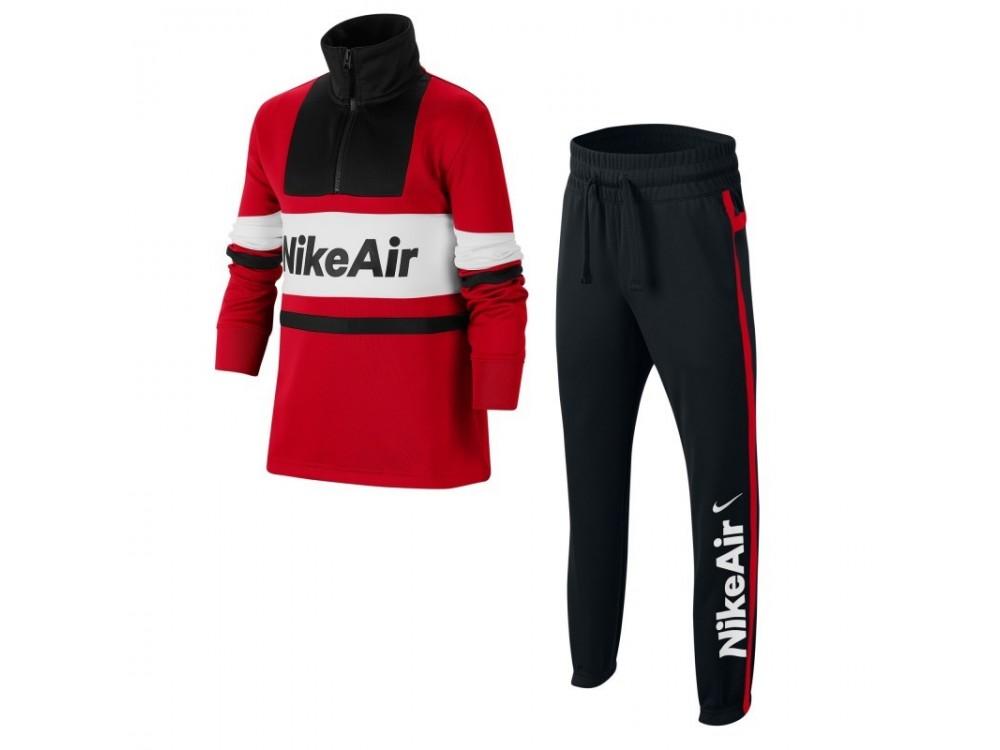 Alternativa cazar Emoción  Comprar Chandal NIKE: Chandal Nike Air Tracksui Niño Rojo y negro