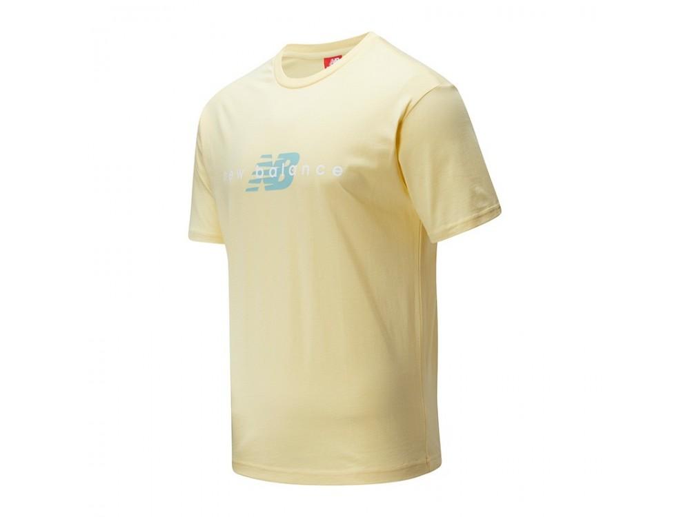 Culo Mercurio vitalidad  CAMISETA NEW BALANCE // Camiseta New Balance Hombre MT01516 - Amarilla-  Baratas.