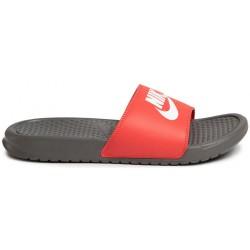 Chancla Nike Benassi JDI 343880 028 Gris y Roja Hombre