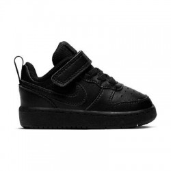 NIKE COURT BOROUGH LOW (TDV) ZAPATILLA NIÑO BQ5453 001 NEGRAS