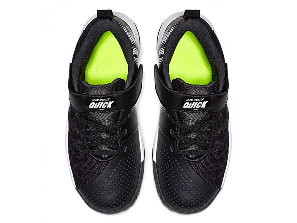 NIKE TEAM HUSTLE QUICK 2 PS NIÑO AT5299 002 NEGRA Y BLANCA