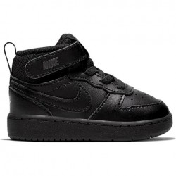 NIKE COURT BOROUGH MID 2 (TDV) ZAPATILLA NIÑO CD7784 001 NEGRAS
