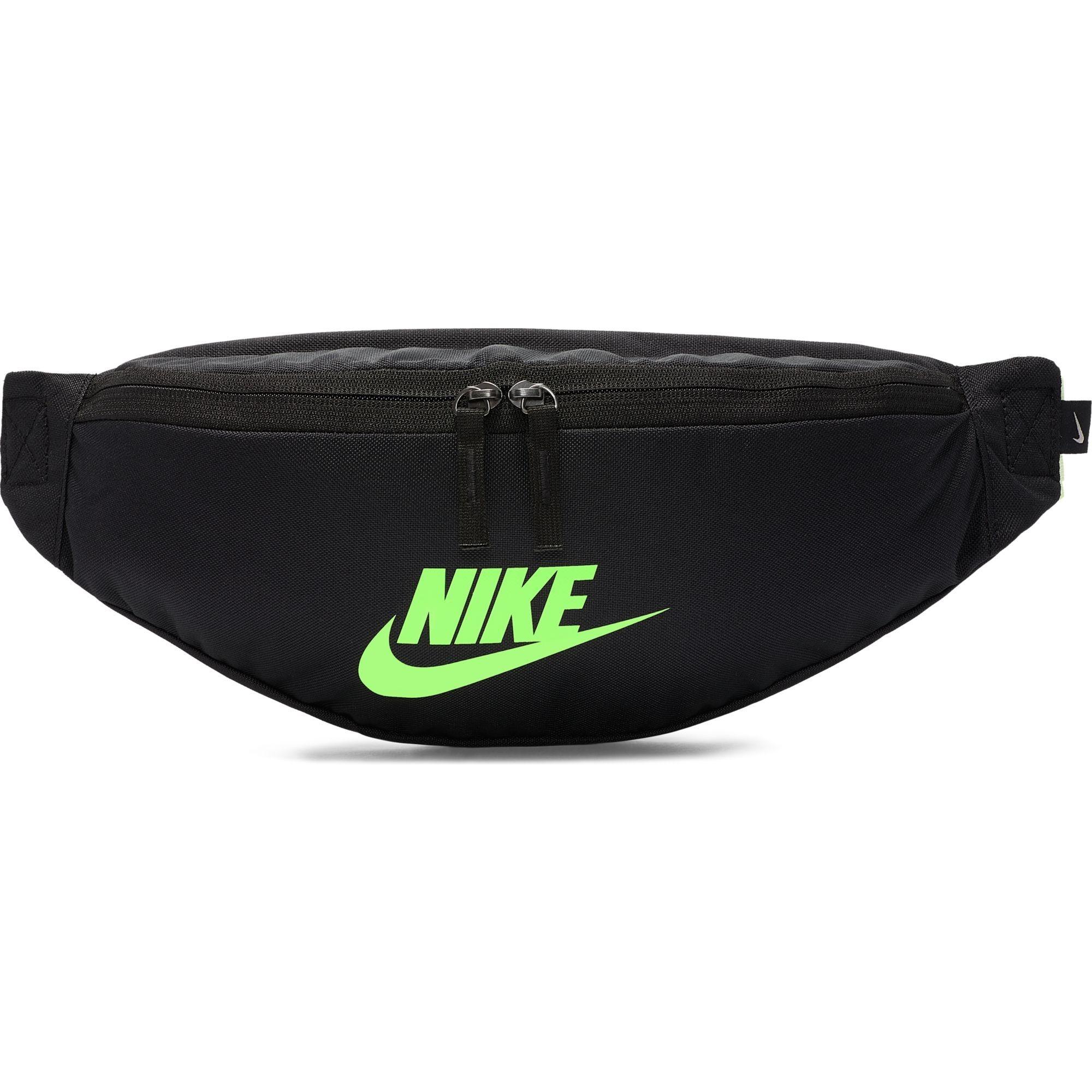 Lubricar Cintura jugar  NIKE RIÑONERA NEGRA: Riñonera Negra y verde de Nike BA5750 019|barata online