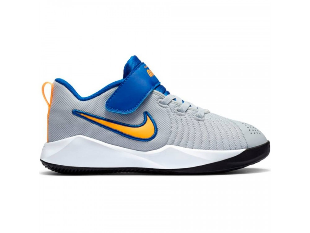 NIKE TEAM HUSTLE QUICK 2 PS NIÑO AT5299 011 GRIS Y AZUL