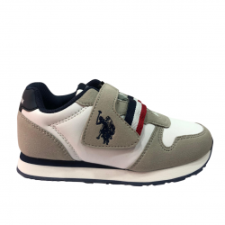 US POLO ASSIN MAX1 CLUB-OFF ZAPATILLA NIÑO BLANCA