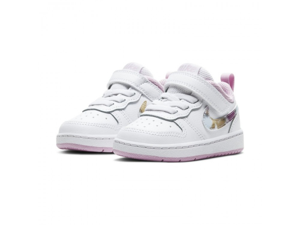 NIKE COURT BOROUGH LOW 2 SE (TDV) ZAPATILLA INFANTIL CZ6614 100 BLANCAS