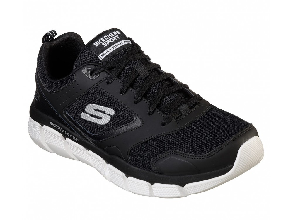 SKECHERS HOMBRE RELAXED WHITESHORE 52844 BKW