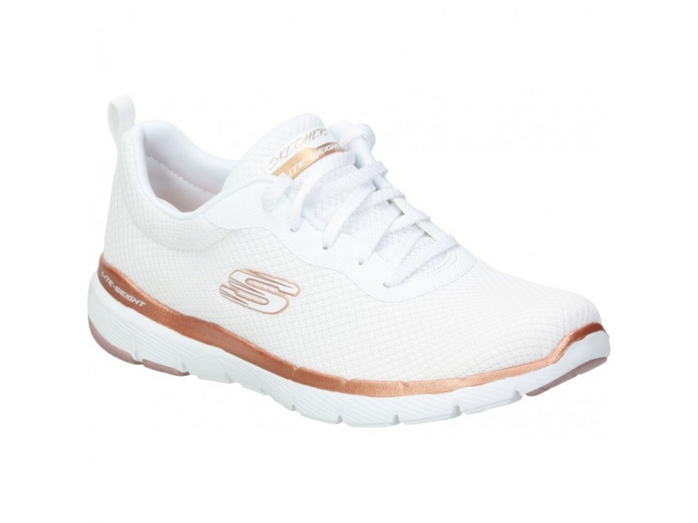 SKECHERS MUJER FLEX APPEAL 3.0 FIRST INSIGHT 13070 WTRG BLANCA