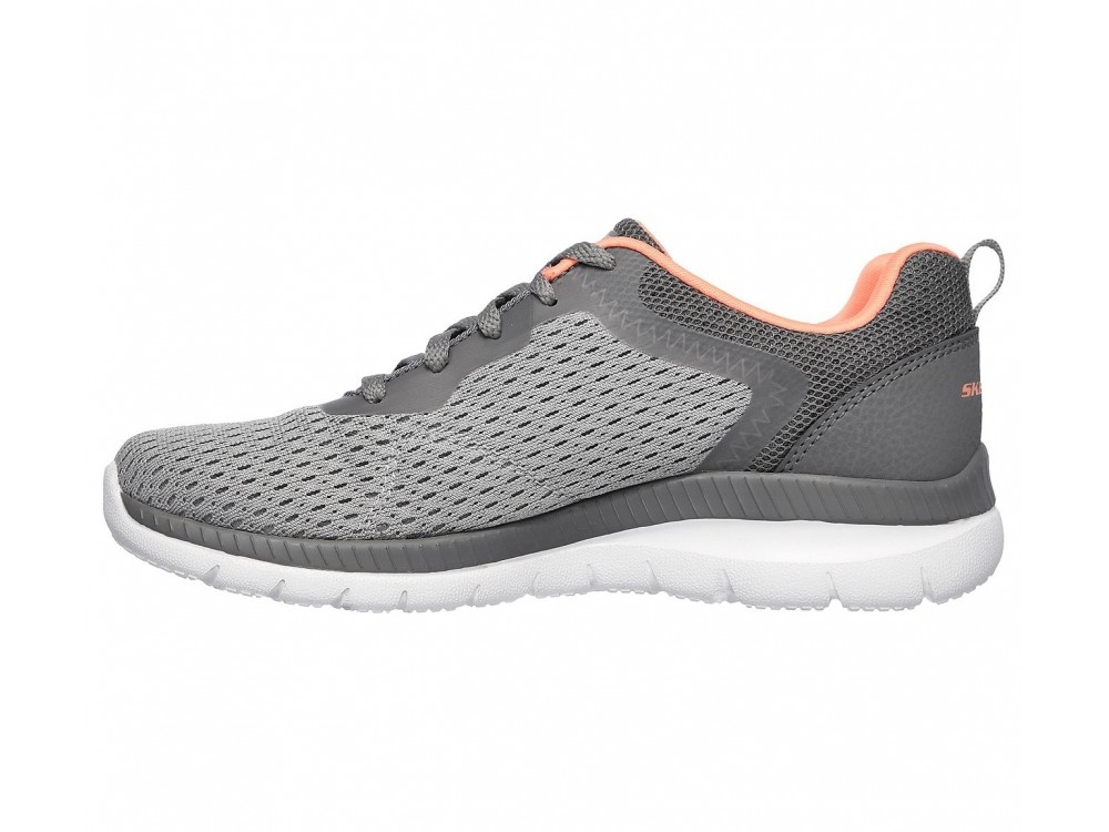 SKECHERS MUJER BOUNTIFUL-QUICK ATH 12607/GYCL GRIS