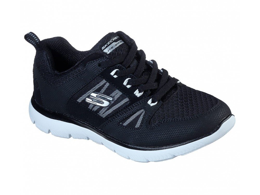 SKECHERS MUJER  NEW WORLD NEGRAS 12997BKW