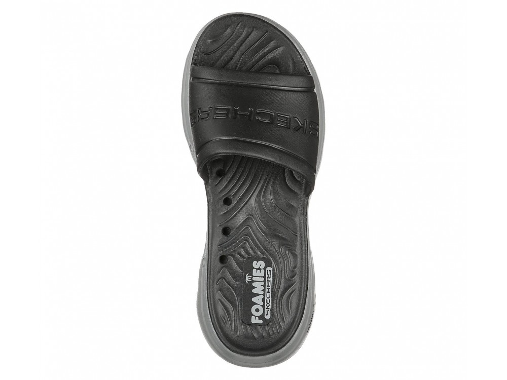CHANCLAS SKECHERS HOMBRE GO WALK SURFS  243005/BKGY NEGRA