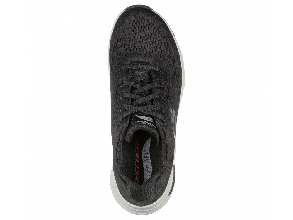 SKECHERS MUJER ARCH FIT BIG APPEAL 149057/BKW NEGRA