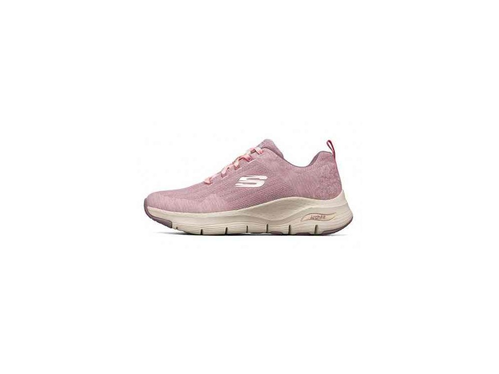 SKECHERS MUJER ARCH FIT COMFY WAVE 149414/MVE ROSA